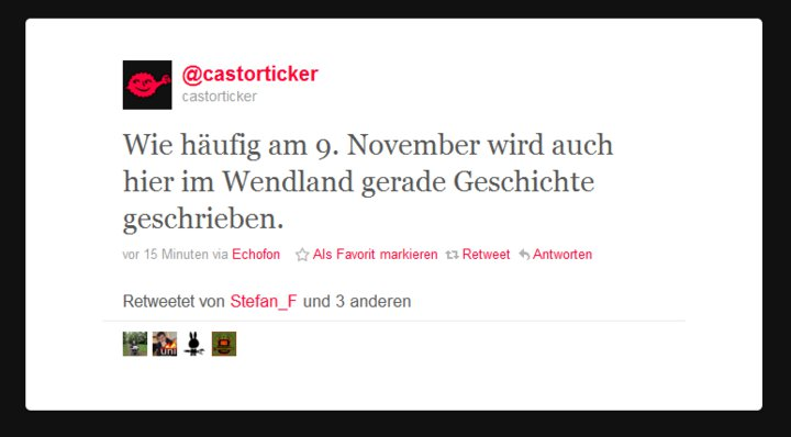 9.November - Castor Fail